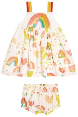 Stella McCartney Rainbow Print Dress and Bloomers Set