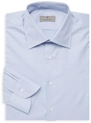 Canali Modern-Fit Geometric Dress Shirt
