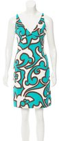 Milly Printed Textured Dress