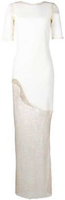 HANEY Asymmetrical Sequin Dress