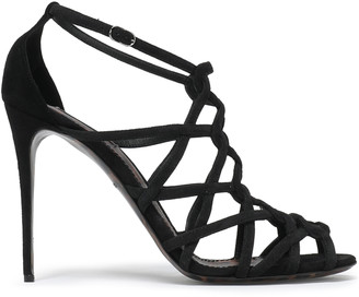 Dolce & Gabbana Cutout Suede Sandals