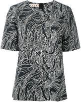 Marni Coated poplin Beardsley print blouse - women - Cotton - 40