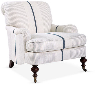 Imagine Home Chatsworth Accent Chair - White/Navy