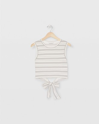 Club Monaco Sleeveless Tie Back Top