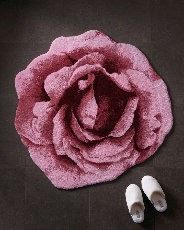 "Horchow ""Rose"" Bath Rug"
