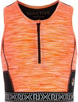 River Island Girls RI Active Orange zip sports crop top