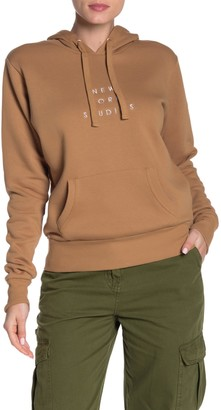 Cotton On Embroidered Text Drawstring Hoodie