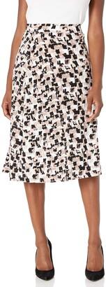 Kasper Women's Plus Size Printed ITY Skirt