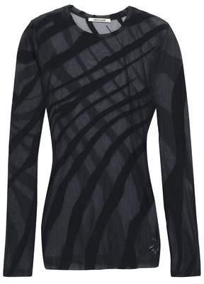 Roberto Cavalli Burnout Stretch-cotton Jersey Top