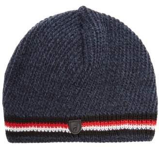 Toni Sailer Adrian Striped Ribbed-knit Beanie Hat - Mens - Navy