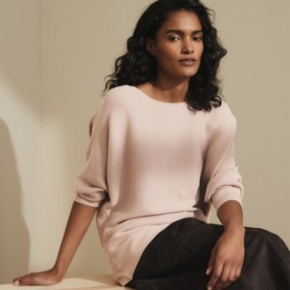 The White Company Horizontal Batwing Jumper , Petal Pink, Extra Small