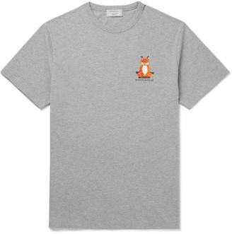 MAISON KITSUNÉ Slim-Fit Logo-Print Cotton-Jersey T-Shirt