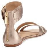 Rachel Zoe Gabi Metallic Ankle-Strap Sandal, Rose Gold