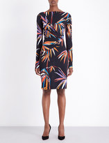Emilio Pucci Bamboo-print jersey knee-length dress