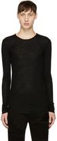 Balmain Black Long Sleeve Ribbed T-Shirt