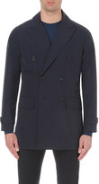 Hardy Amies Double-breasted shell trench coat
