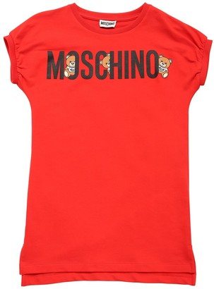 Moschino Logo Print Cotton Sweat Dress
