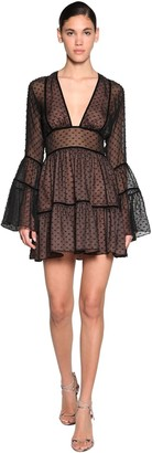 DSQUARED2 Fil Coupe Chiffon Mini Dress