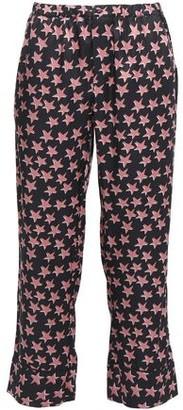 LOVE Stories Reese Printed Crepe De Chine Pajama Pants