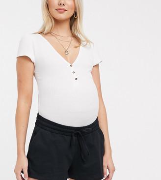 ASOS DESIGN Maternity sweat short in organic cotton