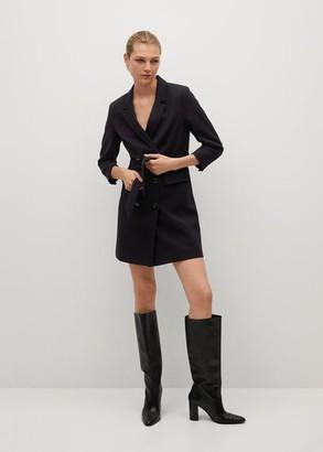 MANGO Belt suit jacket dress black - 2 - Women