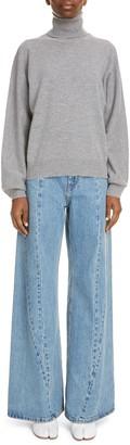 Maison Margiela Batwing Sleeve Wool & Cashmere Turtleneck Sweater