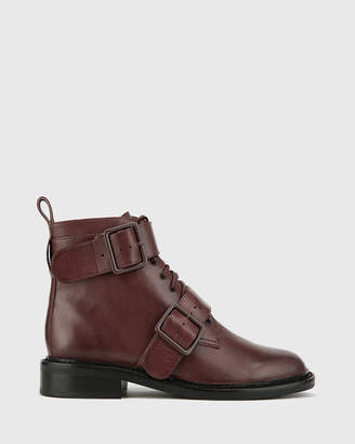 Wittner Braiden Lace Up Flat Ankle Boots