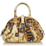 Christian Dior Pre-owned: Printed Leather Saddle Dome.