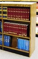 "Heller W.C. Single Face Shelf Standard Bookcase W.C. Finish: Walnut, Size: 42"" H x 36"" W x 12"" D"