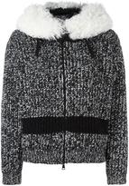 Moncler detachable collar cardigan - women - Acrylic/Polyamide/Viscose/Lamb Fur - M
