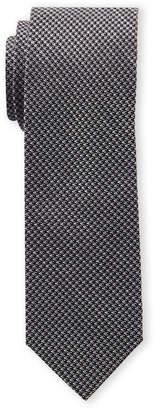 Ben Sherman Black Houndstooth Tie