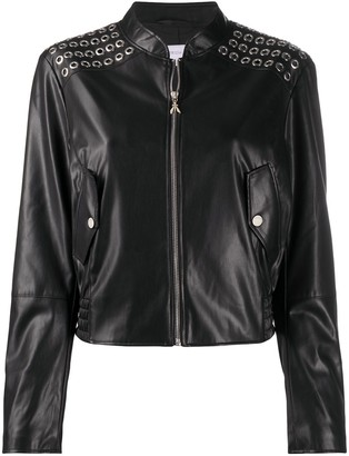 Patrizia Pepe Zip-Up Faux-Leather Jacket