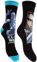 Star Wars Childrens Boys Cotton Rich Design Socks (Pack Of 2)