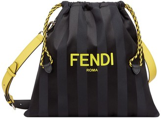 Fendi Medium Striped Drawstring Bag