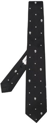 Alexander McQueen Skull And Star Print Tie
