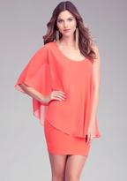 Bebe Maline Asymmetric Sleeve Dress