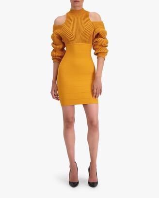Herve Leger Cable & Bandage Mini Dress