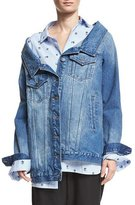Robert Rodriguez Long Denim Jacket, Blue