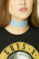 Forever 21 Studded Denim Choker