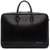 Prada Black Stripe Briefcase