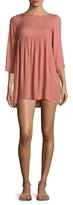 Rachel Pally Crepe Solid Mini Dress