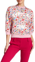 Love Moschino Typical Girl Floral Pattern Grommet Pullover