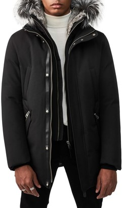 Mackage Edward Silver Fox Fur-Trimmed Down Coat