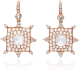 Nam Cho 18K Pink Gold Moonstone and Diamond Drop Earrings