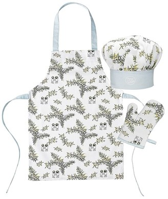 Ecology May Gibbs Wattle 3 Piece Children's Chef Set White & Blue