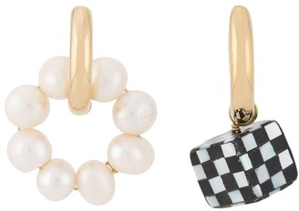 Timeless Pearly Mismatched Hoop Earrings