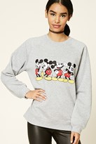 Forever 21 FOREVER 21+ Mickey Patch Graphic Sweatshirt