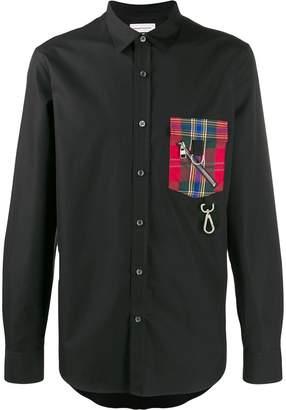 Alexander McQueen plaid chest pocket shirt