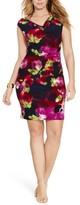 Lauren Ralph Lauren Plus Size Women's Cowl Neck Jersey Dress