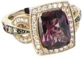 LeVian 14K Rose Gold 3.07ct Rhodolite Garnet 0.34cts Diamond Strawberry Ring Size 5.5